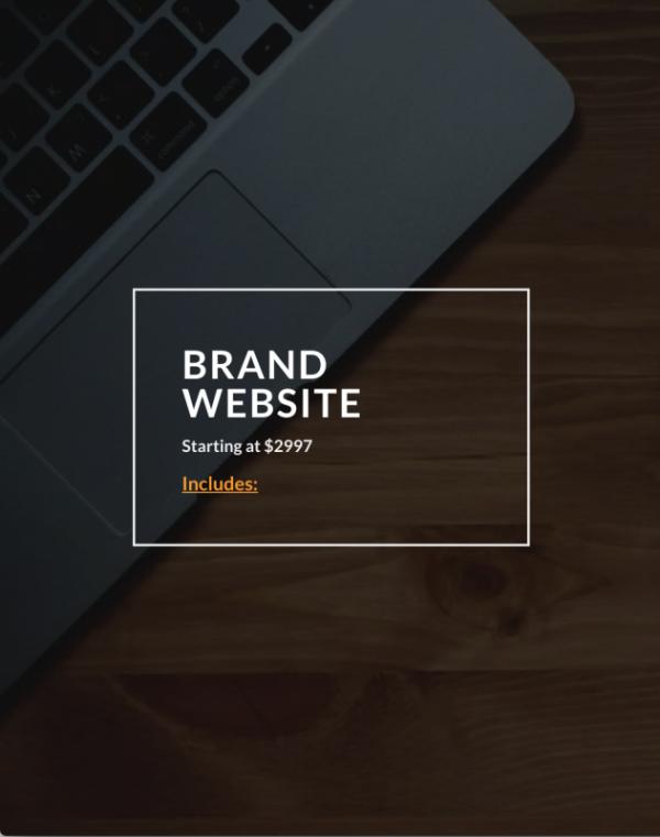 Rufus Burns - Brand Website Service
